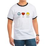 Peace.Love.Braces Ringer T