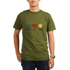 Peace.Love.Braces Organic Men's T-Shirt (dark)