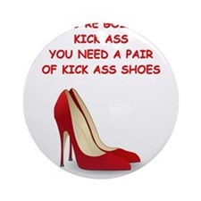 red high heels Ornament (Round)
