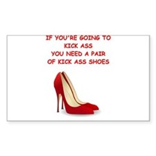red high heels Decal