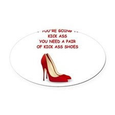 red high heels Oval Car Magnet