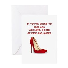 red high heels Greeting Cards