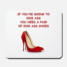red high heels Mousepad