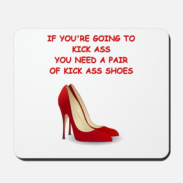 red high heels Mousepad