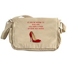 red high heels Messenger Bag