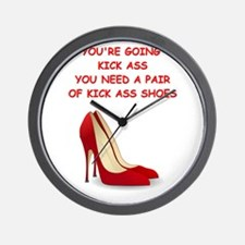 red high heels Wall Clock