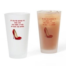 red high heels Drinking Glass