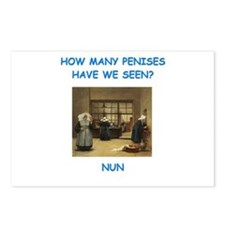 sick nun joke Postcards (Package of 8)