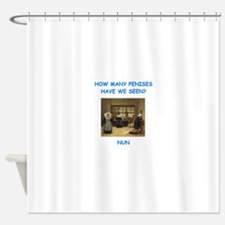 sick nun joke Shower Curtain