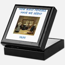 sick nun joke Keepsake Box