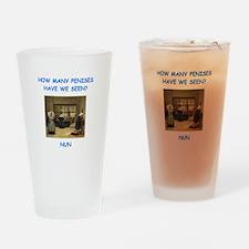 sick nun joke Drinking Glass