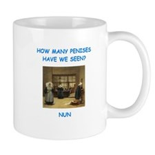 sick nun joke Mugs