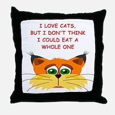CATS4 Throw Pillow