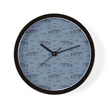 Bass On Blue Wall Clock