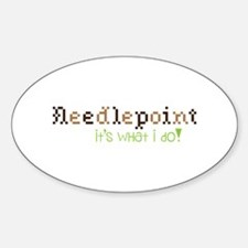 Needle Point Its What I Do! Decal