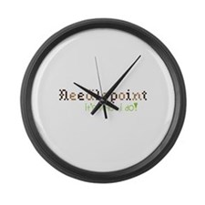 Needle Point Its What I Do! Large Wall Clock