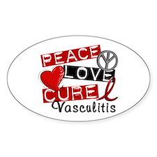 Vasculitis PeaceLoveCure1 Decal