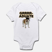 Graduation Bulldog Infant Bodysuit
