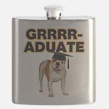 Graduation Bulldog Flask