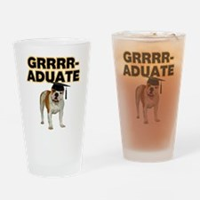 Graduation Bulldog Drinking Glass