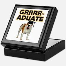 Graduation Bulldog Keepsake Box