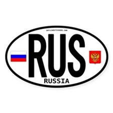 Russia Euro-style Code Oval Decal
