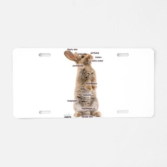 Bunny Bits Aluminum License Plate