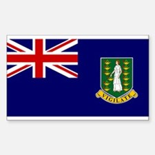 The British Virgin Islands Rectangle Decal
