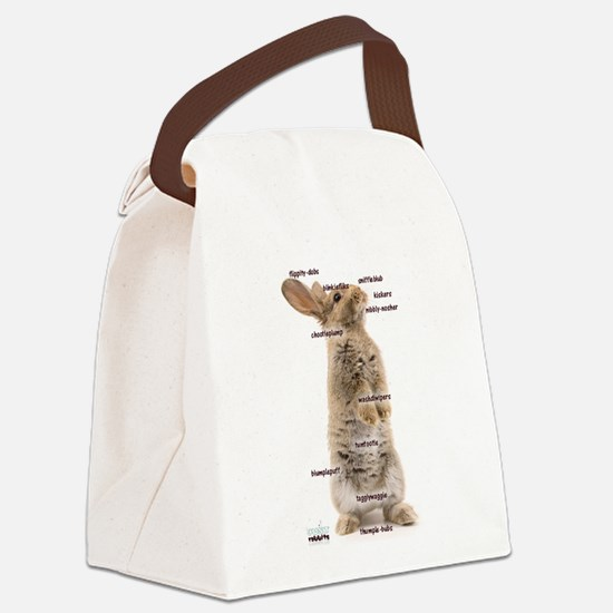 Bunny Bits Canvas Lunch Bag