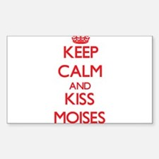 Keep Calm and Kiss Moises Decal