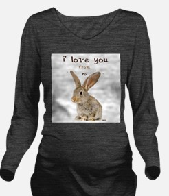 I Love You from Ear to Ear Long Sleeve Maternity T