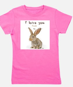 I Love You from Ear to Ear Girl's Tee