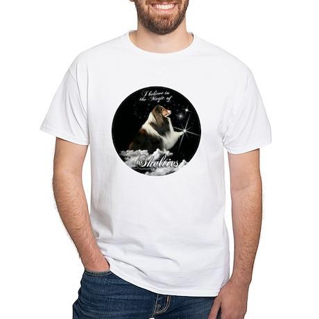 Magic Shelties White T-Shirt
