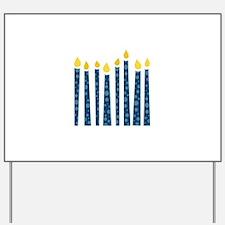 Hanukkah Candles Yard Sign