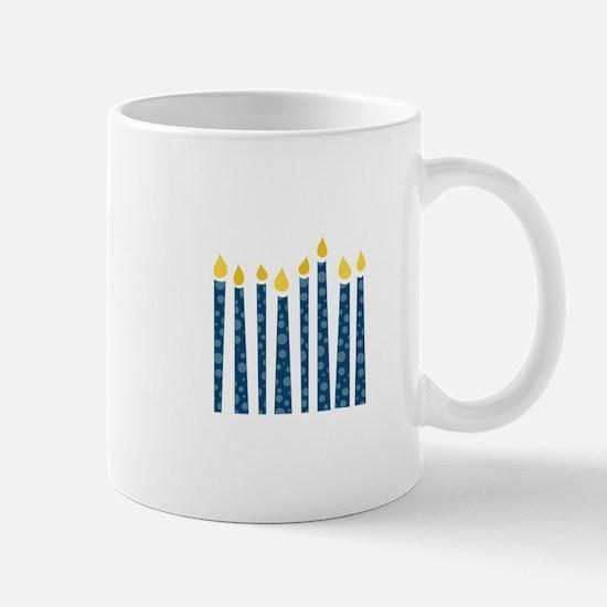 Hanukkah Candles Mugs