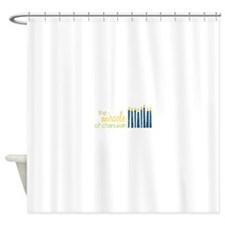 The Miracle Of Chanukah Shower Curtain