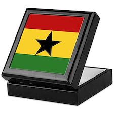 """""""Ghana Flag"""" Keepsake Box"""