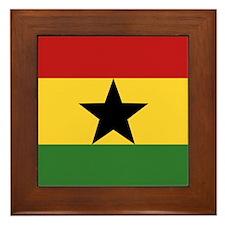"""""""Ghana Flag"""" Framed Tile"""
