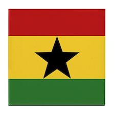 """Ghana Flag"" Tile Coaster"