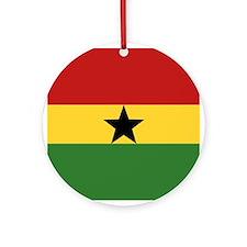 """""""Ghana Flag"""" Ornament (Round)"""