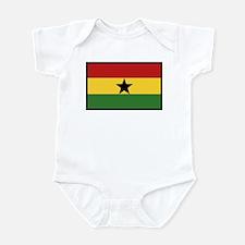 """""""Ghana Flag"""" Infant Bodysuit"""
