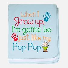 Pop Pop grandchild gift baby blanket
