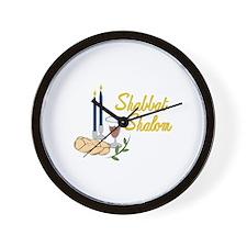 Shabbat Shalom Wall Clock
