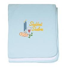 Shabbat Shalom baby blanket