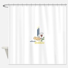 Celebrate Shabbat Shower Curtain