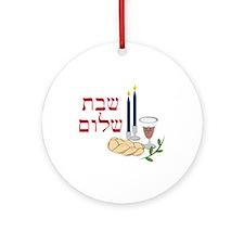 Shabbat Ornament (Round)
