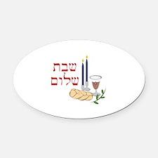 Shabbat Oval Car Magnet