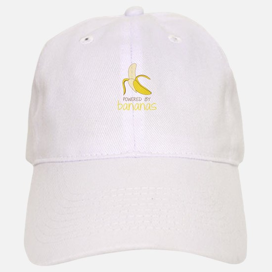 Powered By Bananas Baseball Baseball Baseball Cap