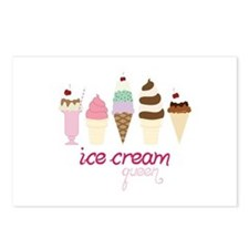 Ice Cream Queen Postcards (Package of 8)