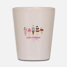 Ice Cream Queen Shot Glass